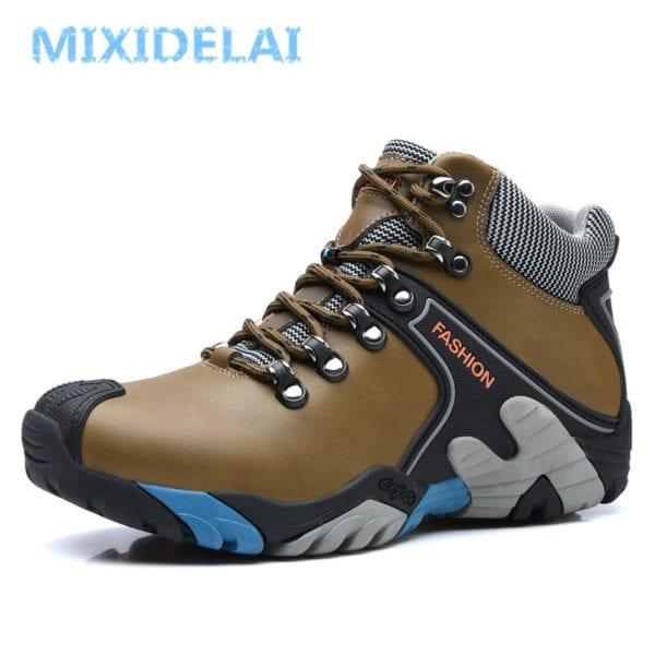 MIXIDELAI Men Boots Size 38 46 Fashion Men Winter Boots Waterproof Men Snow Boots Lace Up 3