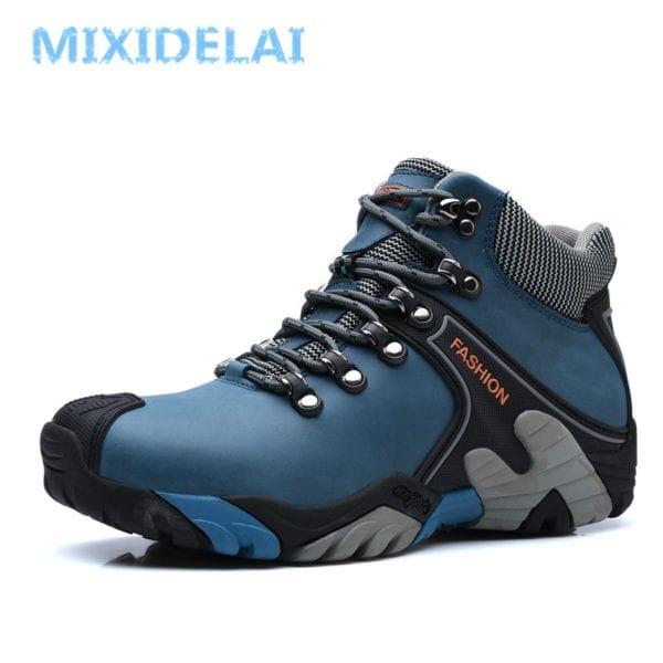 MIXIDELAI Men Boots Size 38 46 Fashion Men Winter Boots Waterproof Men Snow Boots Lace Up 4