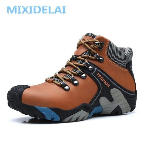 MIXIDELAI Men Boots Size 38 46 Fashion Men Winter Boots Waterproof Men Snow Boots Lace Up