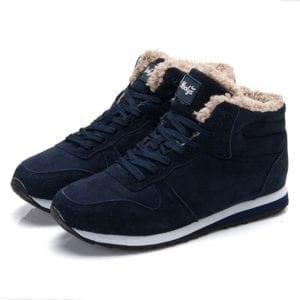 Men Shoes Winter Sneakers Suede Leather Tenis Trainers Mans Footwear Warm Winter Shoes Basket Homme Mens