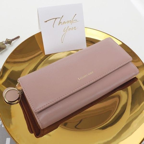 New Fashion Women Wallets Long Style Multi functional wallet Purse Fresh PU leather Female Clutch Card 2