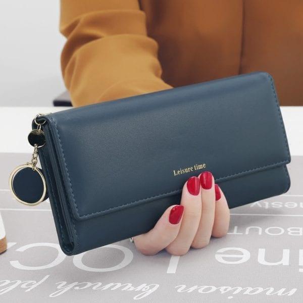 New Fashion Women Wallets Long Style Multi functional wallet Purse Fresh PU leather Female Clutch Card 3