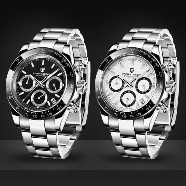 New PAGANI Series Classic Black Dial Luxury Men quartz Watches Stainless Steel 100m Waterproof Mechanical Watch 2