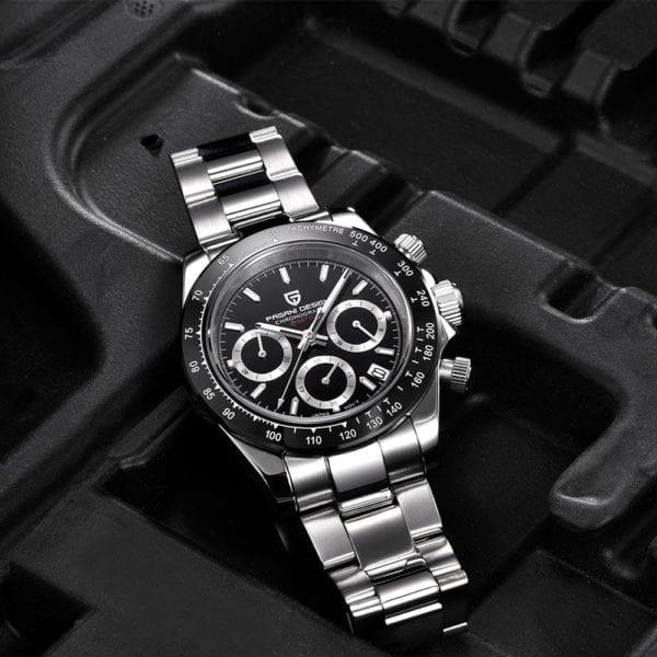 New PAGANI Series Classic Black Dial Luxury Men quartz Watches Stainless Steel 100m Waterproof Mechanical Watch 4