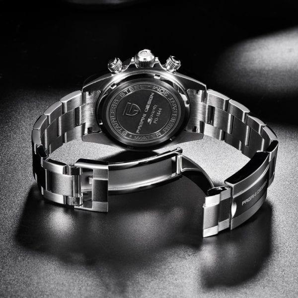 New PAGANI Series Classic Black Dial Luxury Men quartz Watches Stainless Steel 100m Waterproof Mechanical Watch 5