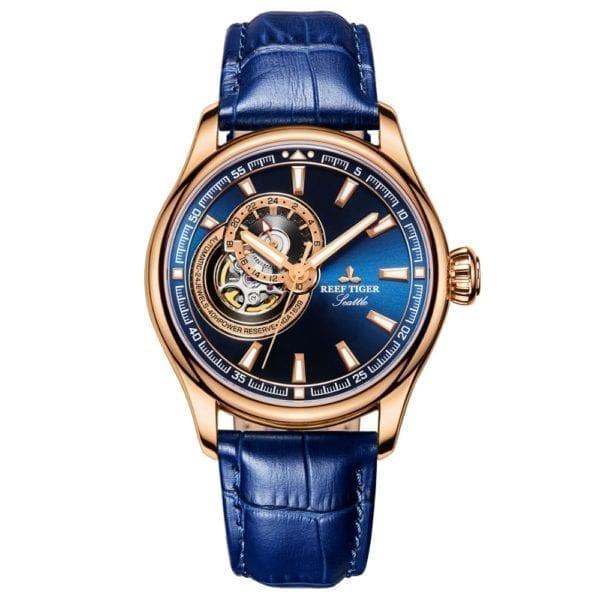 Reef Tiger RT Dress Men Watch Blue Tourbillon Watches Top Brand Luxury Automatic Mechanical Watch Relogio 2