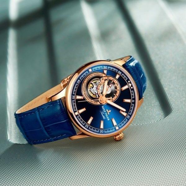 Reef Tiger RT Dress Men Watch Blue Tourbillon Watches Top Brand Luxury Automatic Mechanical Watch Relogio 5