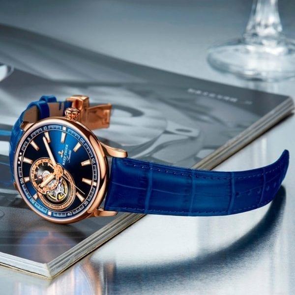 Reef Tiger RT Dress Men Watch Blue Tourbillon Watches Top Brand Luxury Automatic Mechanical Watch Relogio 7