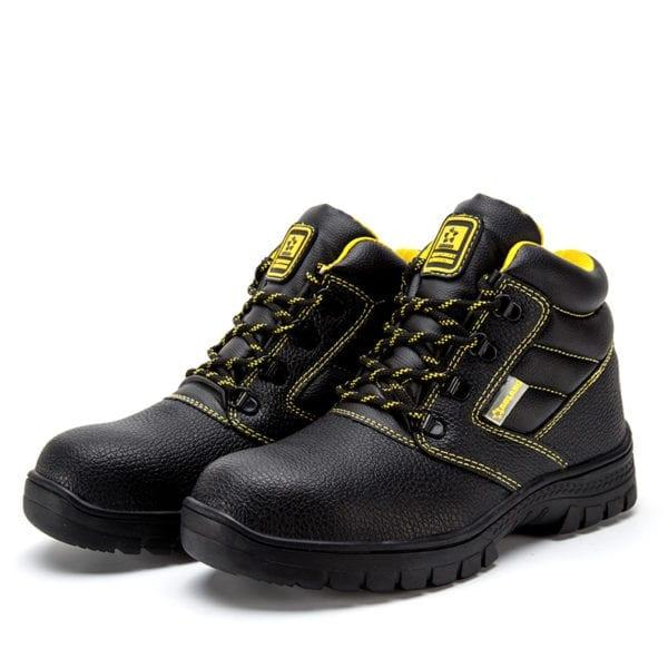 Shoes men work boots winter warm outdoor steel toe cap anti smashing anti piercing outdoor lace 7