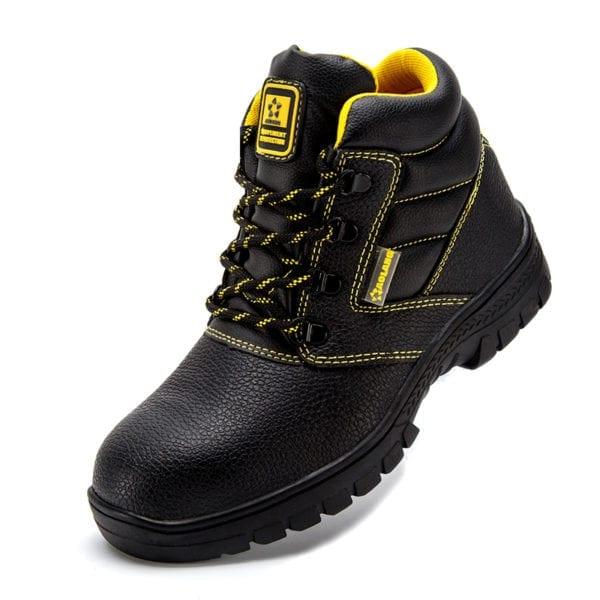 Shoes men work boots winter warm outdoor steel toe cap anti smashing anti piercing outdoor lace 9