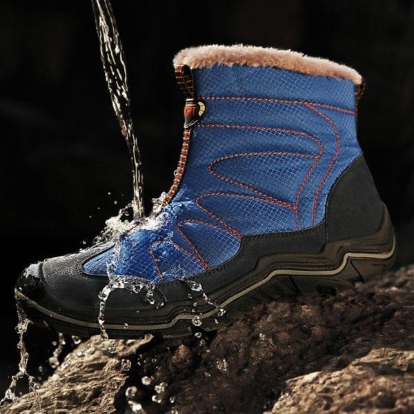 Snow Boots for Men Plush Waterproof Slip Men Boots Platform Thick Resistant Winter Shoes Plus Size 2