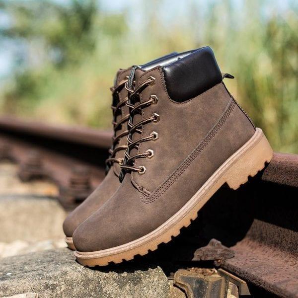 Winter boots men shoes hot warm plus fur winter snow boots work shoes men pu leather 7