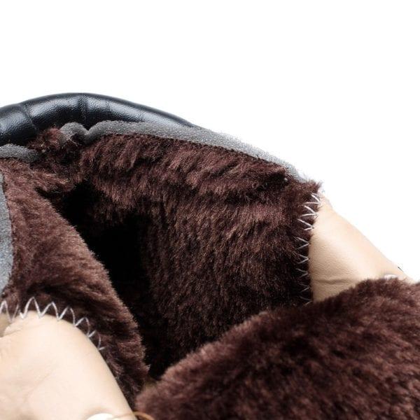 Winter boots men shoes hot warm plus fur winter snow boots work shoes men pu leather 9