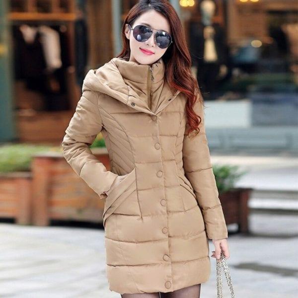 ZOGAA 2019 Women Parka Winter Down Cotton Jacket Warm Thick Hooded Coat Casual Female Winter Jacket 2