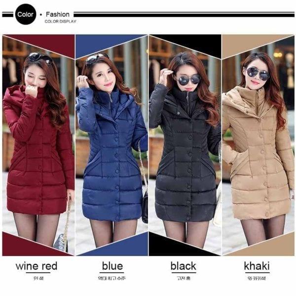 ZOGAA 2019 Women Parka Winter Down Cotton Jacket Warm Thick Hooded Coat Casual Female Winter Jacket 3