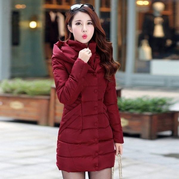 ZOGAA 2019 Women Parka Winter Down Cotton Jacket Warm Thick Hooded Coat Casual Female Winter Jacket 4