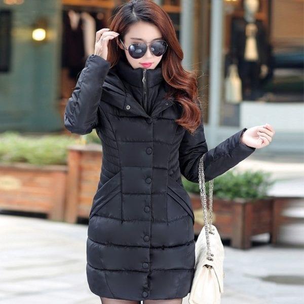 ZOGAA 2019 Women Parka Winter Down Cotton Jacket Warm Thick Hooded Coat Casual Female Winter Jacket
