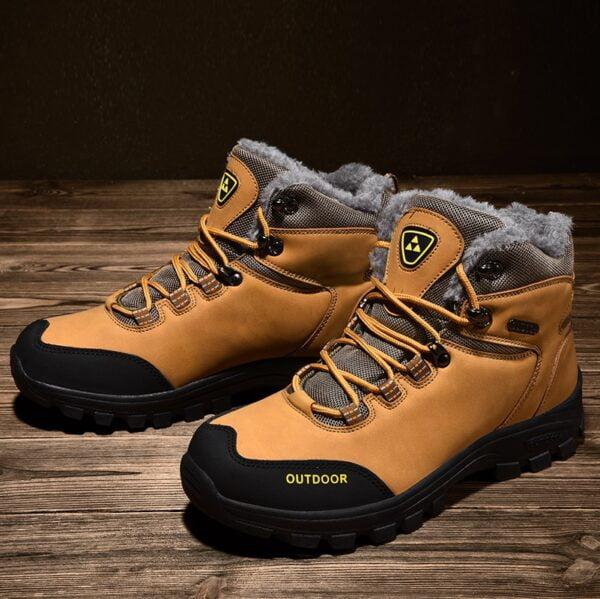 New Plus Velvet Men s Boots Winter Snow Boots Waterproof Fashion Comfortable Footwear Bottes Pour Hommes 3