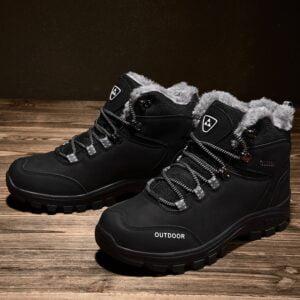 New Plus Velvet Men s Boots Winter Snow Boots Waterproof Fashion Comfortable Footwear Bottes Pour Hommes