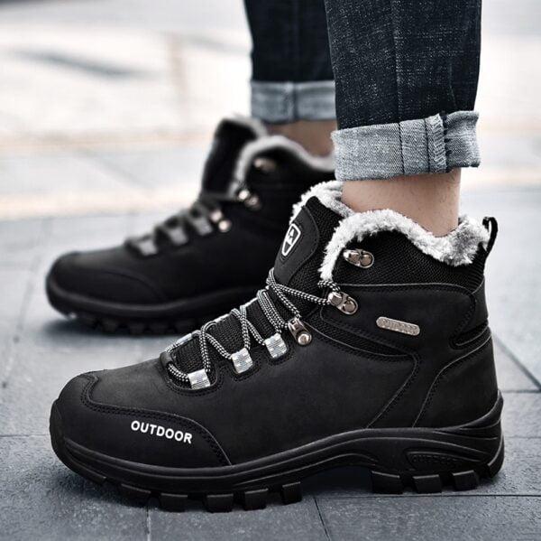 New Plus Velvet Men s Boots Winter Snow Boots Waterproof Fashion Comfortable Footwear Bottes Pour Hommes 5