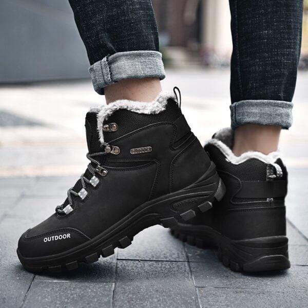 New Plus Velvet Men s Boots Winter Snow Boots Waterproof Fashion Comfortable Footwear Bottes Pour Hommes 7