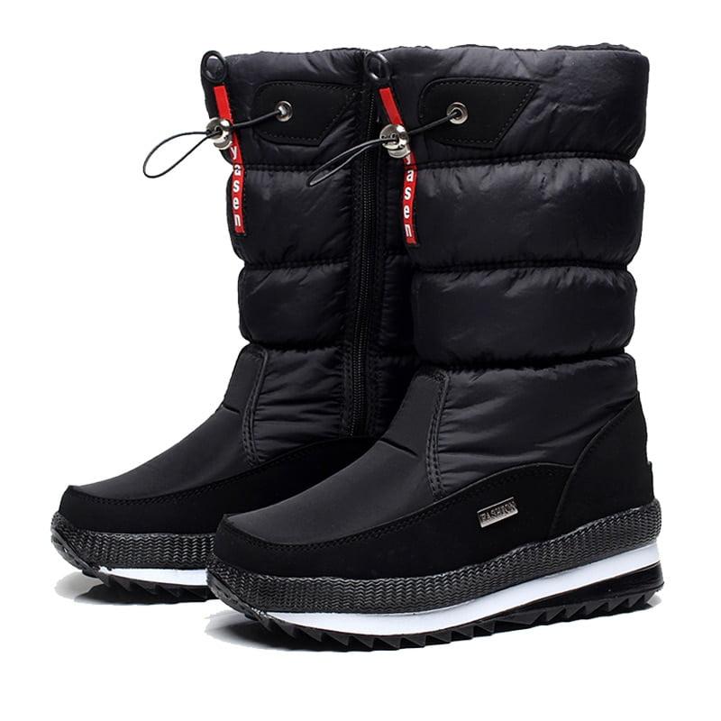 Women snow boots platform winter boots thick plush waterproof non slip boots fashion women winter shoes