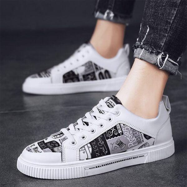 TYDZSMT Women Shoes 2021 Fashion Graffiti PU Flat with Sneakers Spring Autumn Casual Women Shoes Plus 1
