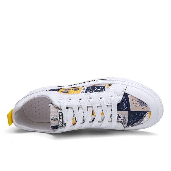 TYDZSMT Women Shoes 2021 Fashion Graffiti PU Flat with Sneakers Spring Autumn Casual Women Shoes Plus 2