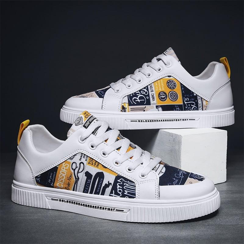 TYDZSMT Women Shoes 2021 Fashion Graffiti PU Flat with Sneakers Spring Autumn Casual Women Shoes Plus