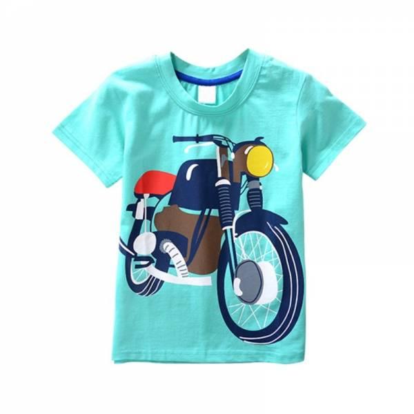 Cotton Boys T Shirt Kids Shirts Baby Boys Casual Short Sleeve Car Print T shirt For 10