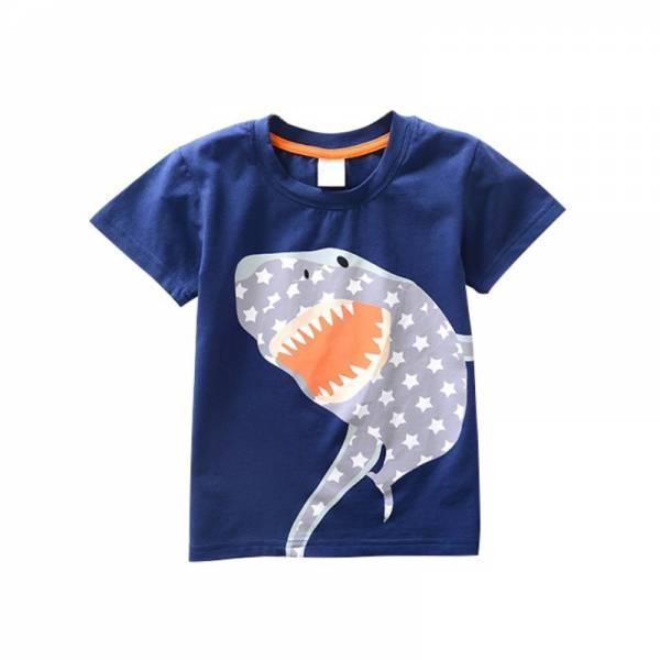 Cotton Boys T Shirt Kids Shirts Baby Boys Casual Short Sleeve Car Print T shirt For 11