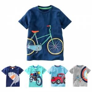 Cotton Boys T Shirt Kids Shirts Baby Boys Casual Short Sleeve Car Print T shirt For 6