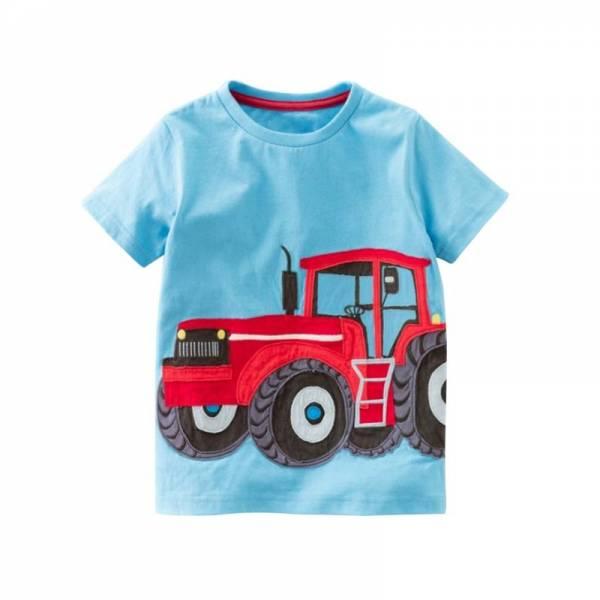 Cotton Boys T Shirt Kids Shirts Baby Boys Casual Short Sleeve Car Print T shirt For 9