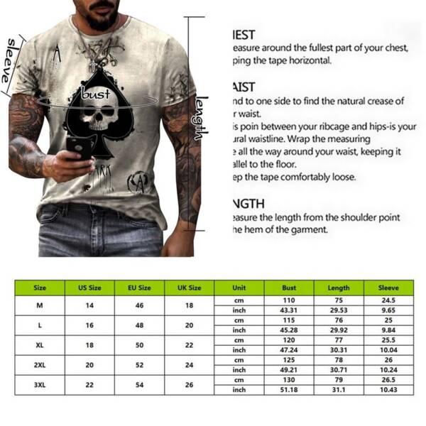Jodimitty 2021 Summer T Shirt Men Casual Short Sleeve Shirt Men Clothing Streetwear Skull Print Graphic 5