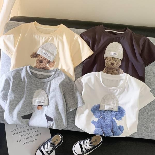 MILANCEL 2021 Summer New Kids T shirt Cute Animal Girls Tees Short Sleeve Cotton Boys Tops 1