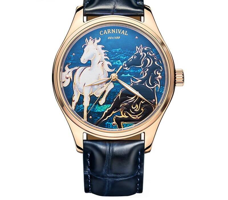 Relogio Masculino Carnival Brand Luxury Mechanical Watch 3D Horse MIYOTA Movement Automatic Wristwatch For Men 2021 e1628012993709