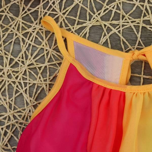 Summer Girl Princess Dress Toddler Kids Baby Girl Princess Clothes Sleeveless Chiffon Tutu Rainbow Dresses For 4