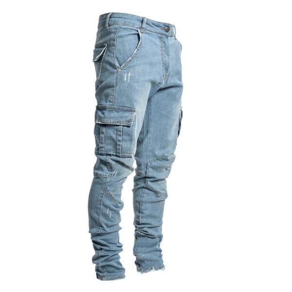 Jeans Men Pants Casual Cotton Denim Trousers Multi Pocket Cargo Jeans Men New Fashion Denim Pencil 1