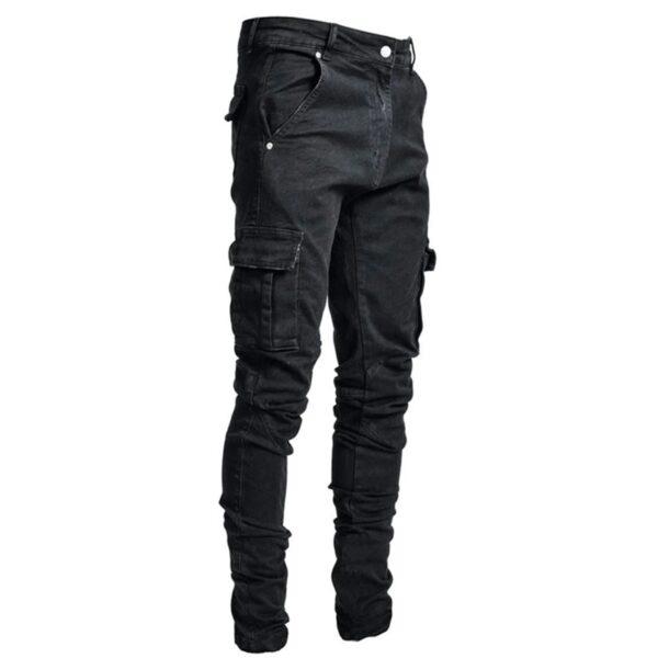 Jeans Men Pants Casual Cotton Denim Trousers Multi Pocket Cargo Jeans Men New Fashion Denim Pencil 2