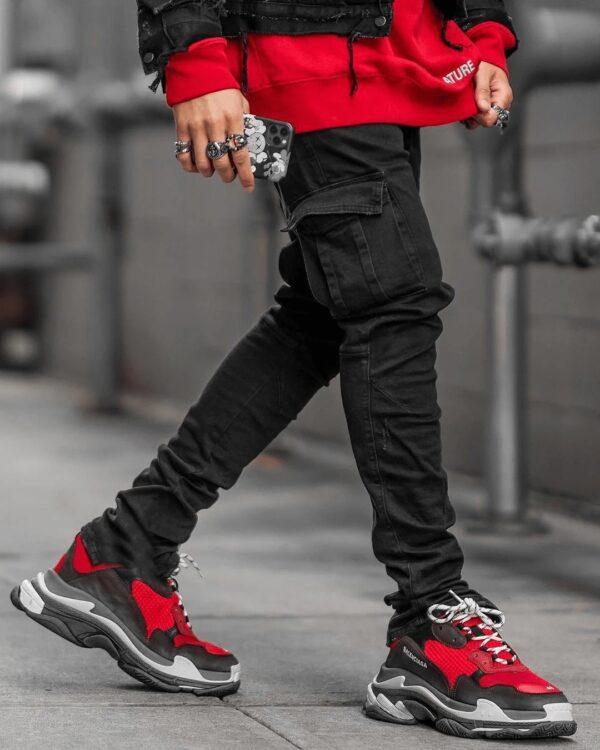Jeans Men Pants Casual Cotton Denim Trousers Multi Pocket Cargo Jeans Men New Fashion Denim Pencil 4