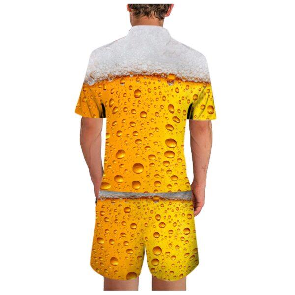 Jogging Men s clothing Summer Men s sets Leisure Sports 3D Beer Plus Size Fitness Running 1