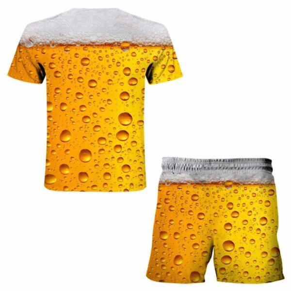 Jogging Men s clothing Summer Men s sets Leisure Sports 3D Beer Plus Size Fitness Running 4