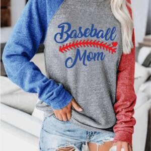 Raglan Sleeve Baseball T shirt Summer Autumn Long Sleeve Tops Tee Women O neck Loose Tee