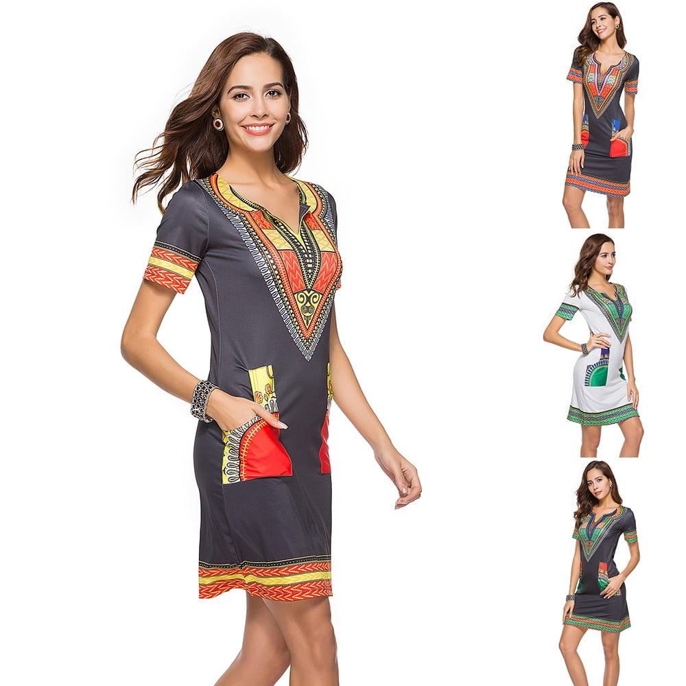Sexy Dresses Summer Women s Dress 2021 Female Clothing Tropical Woman Skirt Ethnic Print Bodycon Beach