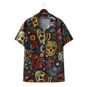 Summer Men Printed Shirt Lapel Casual Chic Button Short Sleeve Camisas Hombre 2021 Fashion Streetwear Hawaiian