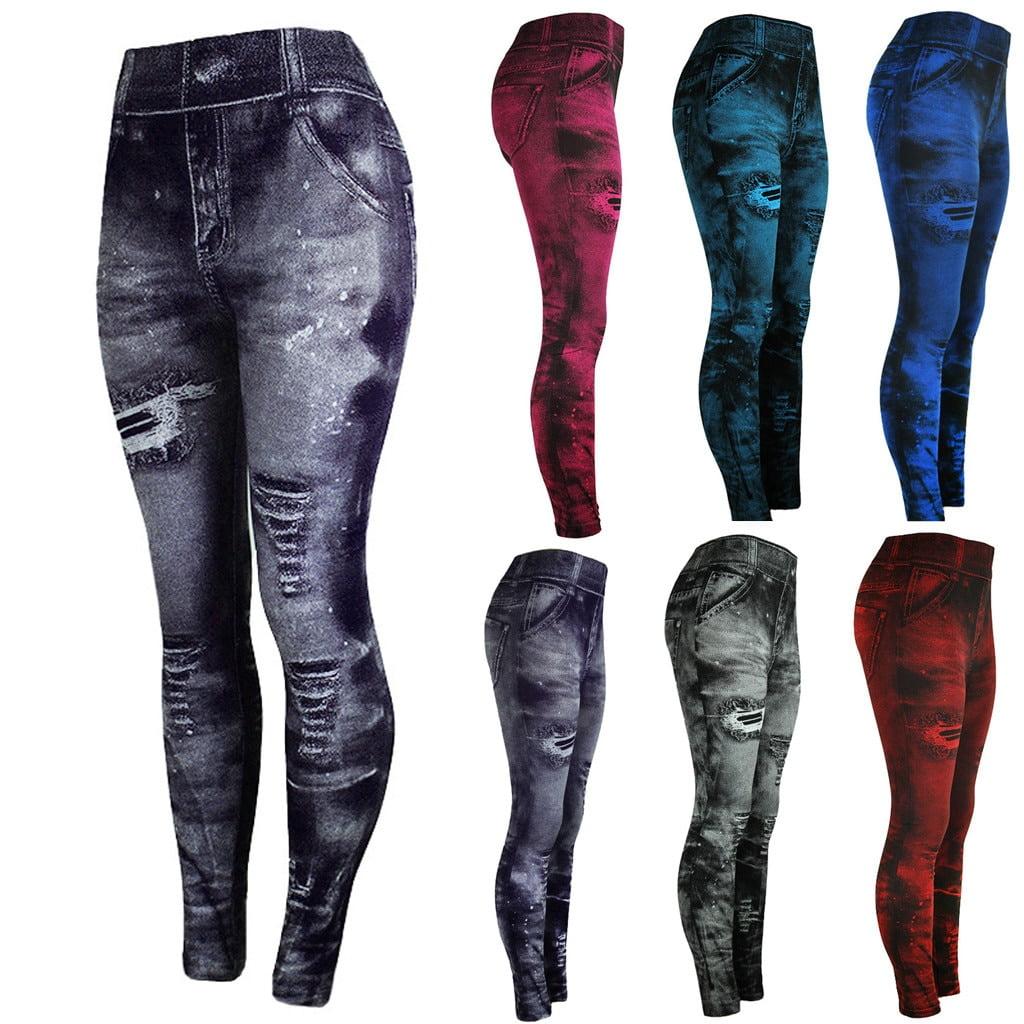 Women s Leggings Jeans Bottom Pants Coloured Hip up Super Bomb Slim Nine minute Pants Jeggings